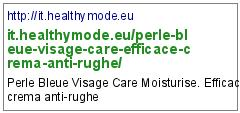 http://it.healthymode.eu/perle-bleue-visage-care-efficace-crema-anti-rughe/